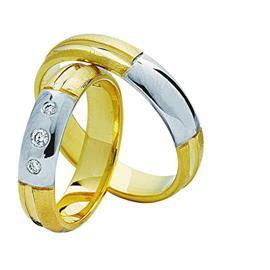 """Обручальные кольца парные с бриллиантами серии """"Twin Set"""", артикул R-ТС 0016"""
