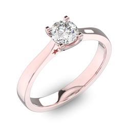 Помолвочное кольцо 1 бриллиантом 0,5 ct 4 5 из розового золота 585° e140a80888b