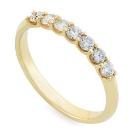 Кольцо с 7 бриллиантами 0,35 ct 4/5 желтое золото, артикул R-R0046Y