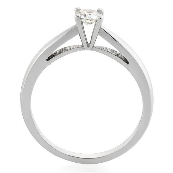 Помолвочное кольцо с 1 бриллиантом 0,21 ct 3/5 белое золото 585°