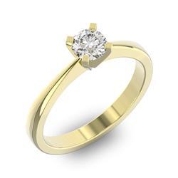 Помолвочное кольцо 1 бриллиантом 0,5 ct 4/5 из желтого золота 585°, артикул R-D43737-1