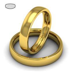 Облегающее обручальное кольцо  из желтого золота, артикул R-1201-01