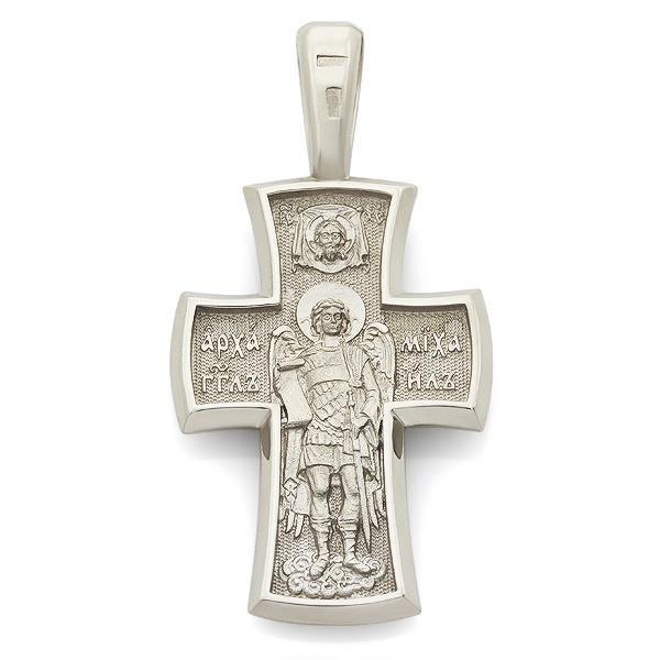 Крест православный Распятие Иисуса Христа, Архангел Михаил