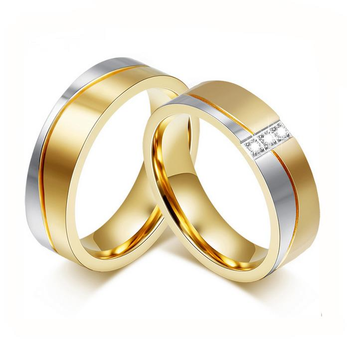a7b9375facc7 Купить Обручальные кольца парные с бриллиантами из золота 585 пробы ...