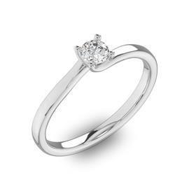 Помолвочное кольцо 1 бриллиантом 0,3 ct 4/5 из белого золота 585°, артикул R-D40880-2