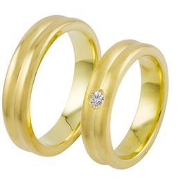 Обручальные кольца с бриллиантами из золота, артикул R-ТС des8
