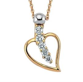 Цепь с подвеской из розового золота с 5 бриллиантами 0,07 ct 3/4, артикул R-NDB00104-01