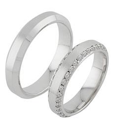 Обручальные кольца с бриллиантами из золота, артикул R-ТС 6016