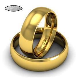 Обручальное кольцо классическое из желтого золота, ширина 6 мм, комфортная посадка, артикул R-W665Y