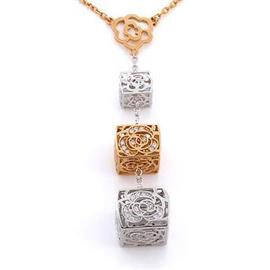 Колье из белого и розового золота 750 пробы с 80 бриллиантами 0,43 карат , артикул R-СА317