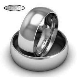 Обручальное кольцо из платины, ширина 7 мм, комфортная посадка, артикул R-W679Pt