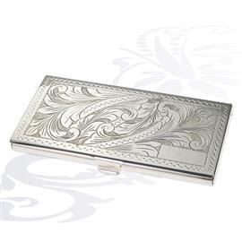 Серебряный портсигар Морозный натюрморт, артикул R-288