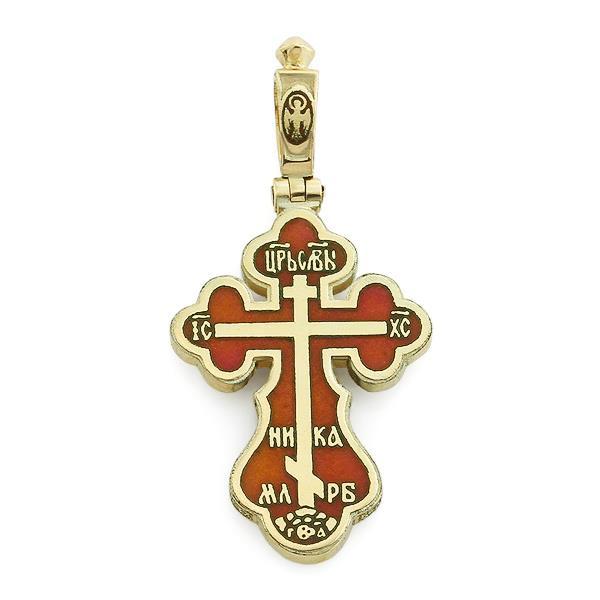 Крест православный с надписями Иисус Христос, Царь Славы, Спаси и сохрани, артикул R-РКо1602-1