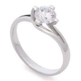 Кольцо с бриллиантом 0,80 ct 4/5 белое золото, артикул R-КК 014080