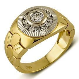 Кольцо из золота 750 пробы с 13 бриллиантами 0,70 карат, артикул R-ИМ 103