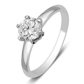 Кольцо с бриллиантом 0,27 ct 3/5  из белого золота 585 пробы, артикул R-НП 076