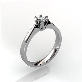 Кольцо с бриллиантом 0,23 ct 3/5  из белого золота 585 пробы, артикул R-D45330 (0.25)