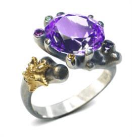 Кольцо Лагуна серебро, артикул R-133002