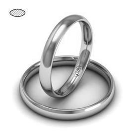 Обручальное кольцо из платины, ширина 3 мм, комфортная посадка, артикул R-W639Pt