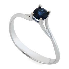 Кольцо с 1 сапфиром 0,43 ct 3/3 из белого золота 750°, артикул R-АYZ3386С-2
