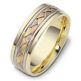 Эксклюзивное обручальное кольцо из золота 585 пробы, артикул R-1010/001
