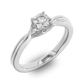 Кольцо с 1 бриллиантом 0,31 ct 6/5  из белого золота 585°, артикул R-D42832-2