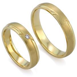 Обручальные кольца с бриллиантами из золота, артикул R-ТС 3324
