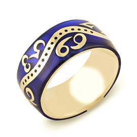 Кольцо с эмалью из желтого золота, артикул R-GT-1э (326154)