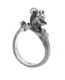 Кольцо Белочка серебро 925, артикул R-141814