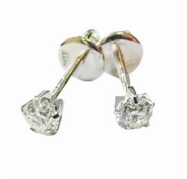 Серьги-пусеты с 2 бриллиантами 0,36 ct 4/5 из розового и белого золота  585°, артикул R-ИВ-001