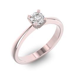 Помолвочное кольцо 1 бриллиантом 0,5 ct 4/5 из розового золота 585°, артикул R-D43737-3
