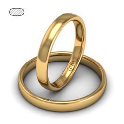 Обручальное кольцо классическое из розового золота, ширина 3 мм, комфортная посадка, артикул R-W335R