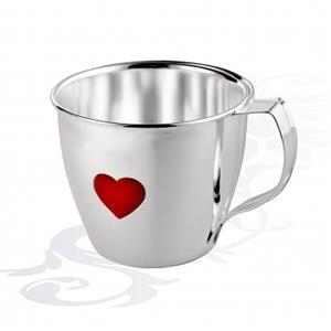 Детская серебряная чашка Сердце, арт. R-AZ20306С