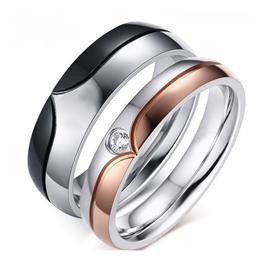 Обручальные кольца парные с бриллиантами из золота 585 пробы, артикул R-ТС AL2309