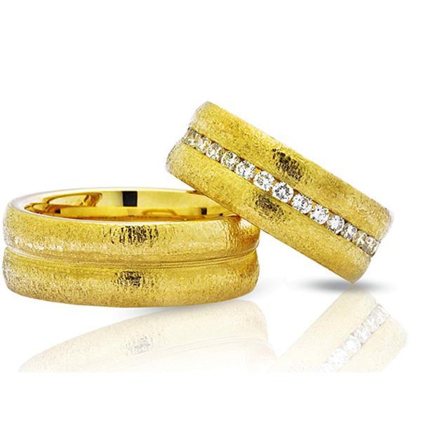 """Обручальные кольца парные с бриллиантами серии """"Twin Set"""", артикул R-ТС 3378"""
