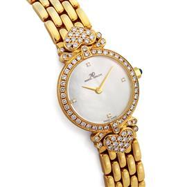 Золотые часы женские с 78 бриллиантами 1,18 ct 2/2 из желтого золота, артикул R-235.124MDC