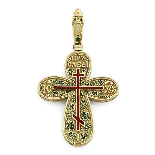 Крест православный с надписями Иисус Христос, Царь Славы, молитва за Отечество