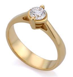 Помолвочное кольцо с 1 бриллиантом 0,50 ct 4/5 желтое золото, артикул R-НП 047