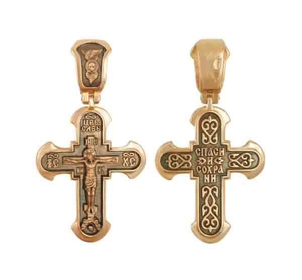 Православный крест Распятие Христово, артикул R-КС3037-3