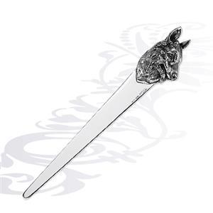 Серебряный нож для бумаги собака, арт. R-0160195A
