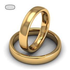 Обручальное кольцо классическое из розового золота, ширина 4 мм, комфортная посадка, артикул R-W345R