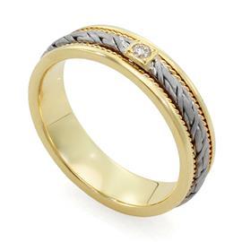 Обручальное кольцо с бриллиантами, артикул R-L 1912