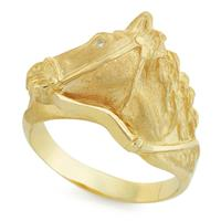 Кольцо с 1 бриллиантом 0,01 ct 3/4 желтого золото 585°