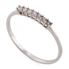 Кольцо с 7 бриллиантами 0,17 ct 4/5  из белого золота, артикул R-ALY00613-08