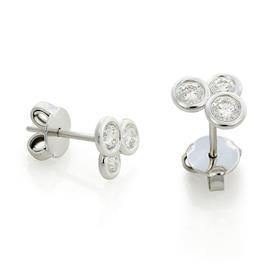 Серьги-пусеты с 6 бриллиантами 0,56 ct 3/5 из белого золота, артикул R-DEA07367-006
