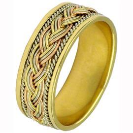 Эксклюзивное обручальное кольцо из золота 585 пробы, артикул R-7004/001
