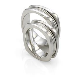Эксклюзивное обручальное кольцо из золота 585 пробы, артикул R-A4341