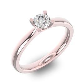 Помолвочное кольцо 1 бриллиантом 0,39 ct 4/5 из розового золота 585°, артикул R-D36766-3