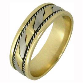 Эксклюзивное обручальное кольцо из золота 585 пробы, артикул R-2320/001