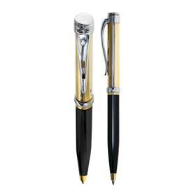 Подарочная золотая ручка из желтого и белого золота 585 пробы с 1 бриллиантом, артикул R-200-1